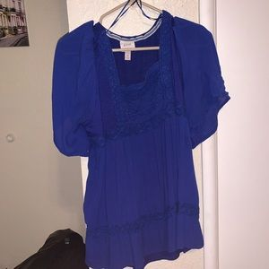Target Knox Rose Blue Blouse 💙